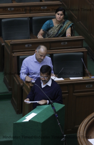 AAP Leader Arvind Kejriwal And Other MLAs Took Oath On First Session Of Sixth Delhi Assembly