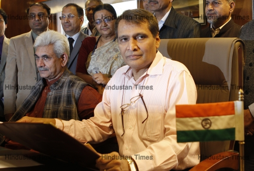 Railway Minister Suresh Prabhu Giving Final Touches To Railway Budget