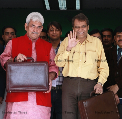 Union Railways Minister Suresh Prabhu Leaves Rail Bhavan To Present Rail Budget 2015