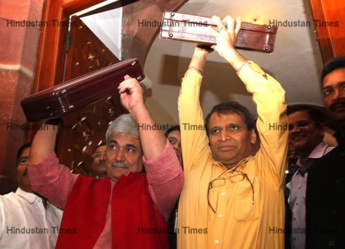 Union Railways Minister Suresh Prabhu Presents Rail Budget 2015 In Parliament