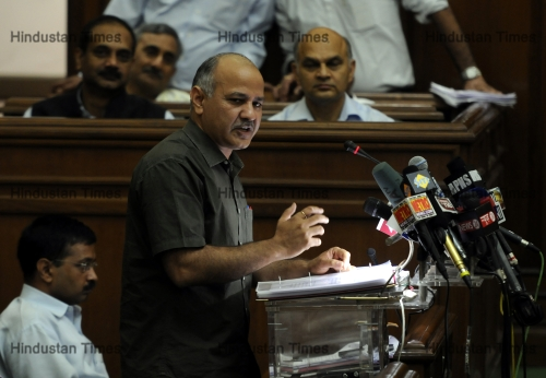 Delhi Deputy Chief Minister Manish Sisodia Presents Annual Budget 2015-2016