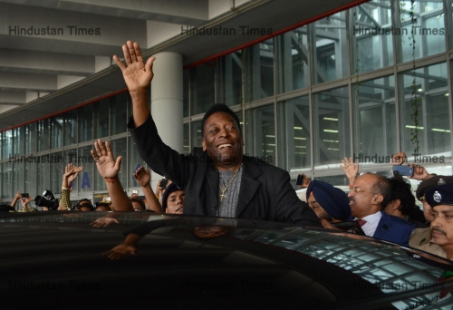 Brazilian Football Legend Pele Arrives In Kolkata