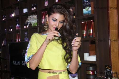 Bollywood Actor Jacqueline Fernandez Launches The Body Shop's New Range Of Products