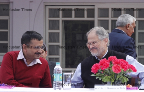 Lt. Governor Najeeb Jung And Delhi CM Arvind Kejriwal Felicitate Gallery Awardees & Distinguished Service Medal Winners