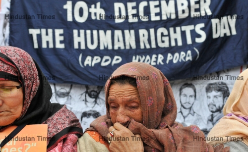People Protest To Mark International Human Rights Day In Srinagar