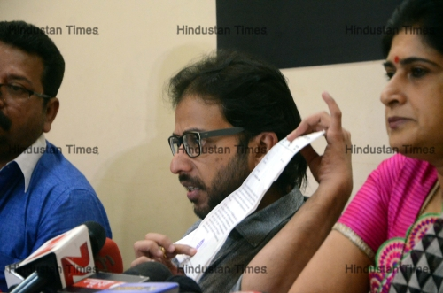 Press Conference Of Maharashtra Navnirman Sena Leaders Over Pakistani Artists