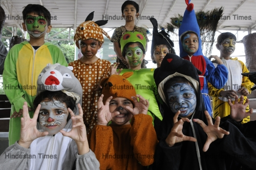 Children Participate In Fancy Dress Competition Organised As Part Of Wild Life Week