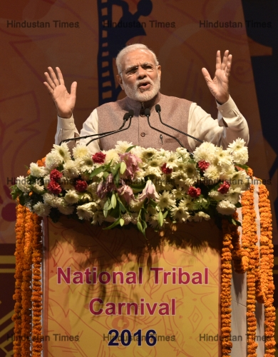 Prime Minister Narendra Modi Inaugurates National Tribal Carnival 2016 In Delhi