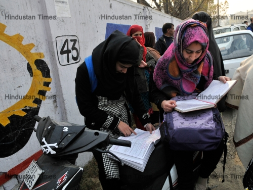 Class XII Board Exams Begin Peacefully After Months Of Schools Being Shut In Kashmir