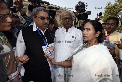 West Bengal CM Mamata Banerjee And Other Opposition Parties Hold A Protest March Over The Demonetization Issue