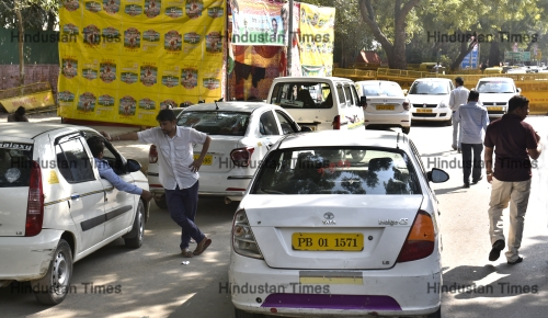 OLA And Uber Drivers Protest
