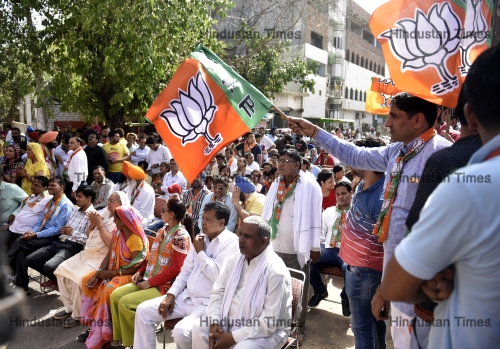 BJP Candidates Campaign For MCD