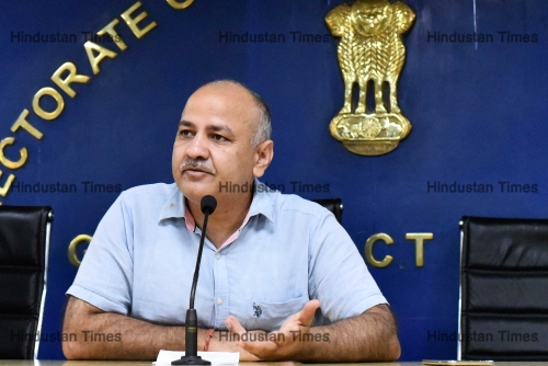 Press Conference Of Deputy Chief Minister Manish Sisodia