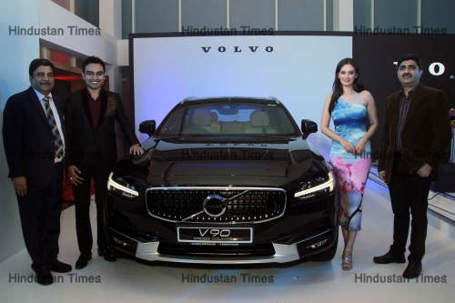 Bollywood Actor Evelyn Sharma Launches Volvo V90 Cross Country