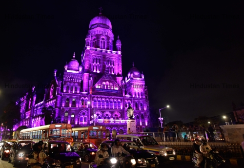 BMC Headquarters Light Up To Mark 124 Years