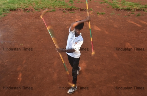 Training Session Of Silambam, A Weapon Based Indian Martial Arts