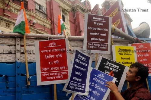 Congress Workers Protest Against Dengue Deaths Near Kolkata