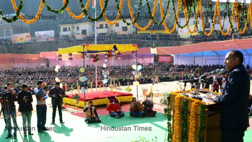 Himachal Pradesh Chief Minister Jay Ram Thakur At Himachal Pradesh Statehood Day Celebration Event