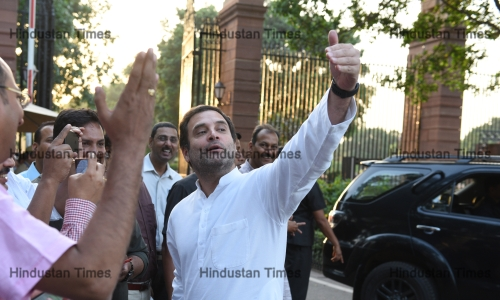Congress President Rahul Gandhi Leads Opposition Delegation To Meet President Ramnath Kovind Over Apex Court Ruling On SC/ST Act