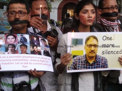 Kolkata Journalist Protest Against The Murder Of Rising