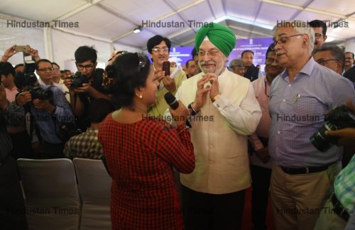 Union Urban Affairs Minister Hardeep Singh Puri Handed Over Government Flats At East Kidwai Nagar