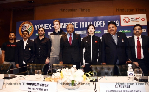 Press Conference Of Yonex-Sunrise India Open 2019