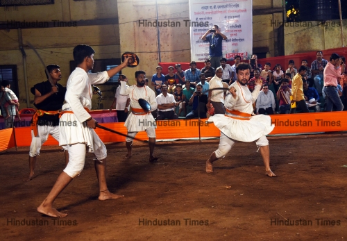 Martial Arts Professionals Demonstrate Traditional Martial Arts On The Occasion Of Maharashtra Day