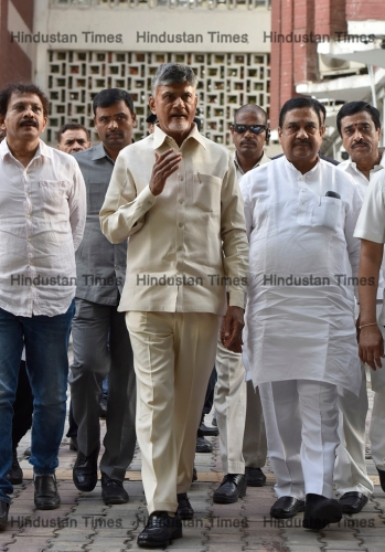 Andhra Pradesh Chief Minister And TDP Chief Chandrababu Naidu Meets With Election Commission