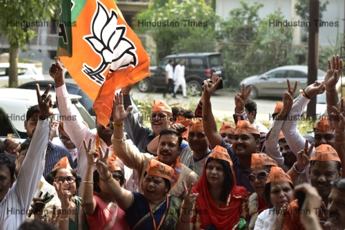 BJP Workers Celebrate Massive Victory In Lok Sabha Elections 2019