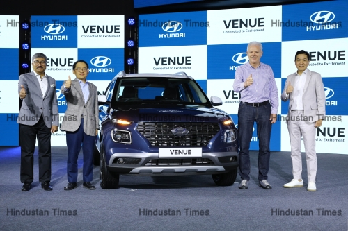 "Hyundai Motor Launches India's First-Ever Fully Connected Suv ""Hyundai Venue"""