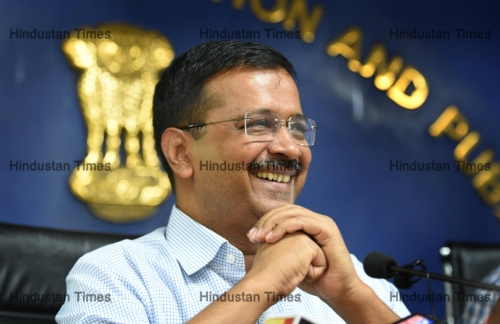 Press Conference Of Delhi Chief Minister Arvind Kejriwal Over Regulating The Unauthorised Colonies
