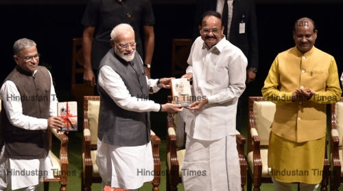 Prime Minister Narendra Modi Releases The Book Chandrashekhar The Last Icon Of Ideological Politics