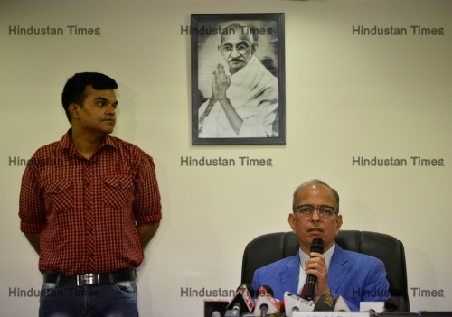 Press Conference Of DERC Chairman Justice Satyendra Singh Chauhan