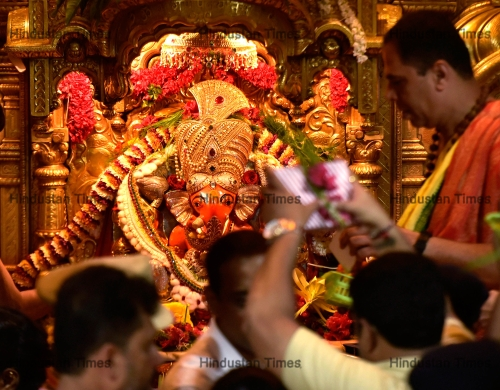 Devotees Visit Siddhivinayak Temple On The Occasion Of Angarkhi Chaturthi