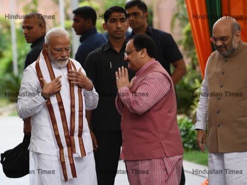 Prime Minister Narendra Modi Chairs BJP Meet To Select Candidates For Maharashtra, Haryana Polls
