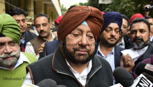 Punjab Chief Minister Capt Amarinder Appears In A District Court In Ludhiana City Centre Scam