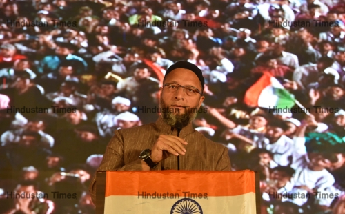 Asaduddin Owaisi Addresses Anti-CAA Protest In Mumbai