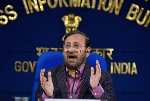 Press Conference Of Union Minister Prakash Javadekar On Cabinet Decision