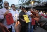 Kolkata Citizens Protest Against The Murder Of Bangladeshi-American Writer