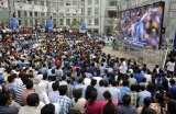 Indian Fans Watch India vs Australia Cricket World Cup Semifinal Match