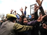 Teachers Protest For Release Of Their Salaries In Srinagar
