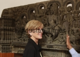 Australian Foreign Minister Julie Isabel Visits Indian National Museum