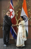 North Korean Foreign Minister Ri Su-Yong Meets Indian External Affairs Minister Sushma Swaraj