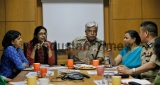 Delhi Police Commissioner BS Bassi And DCW Chairperson Swati Maliwal Visit Hindustan Times House