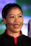 Boxer Mary Kom Felicitates The Indian Contingent Of The 2015 Special Olympics World Games