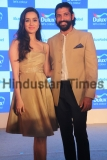 Dulux Paints Brand Ambassadors Shraddha Kapoor And Farhan Akhtar Launch Monarch Gold Colour For Dulux Paint Brand