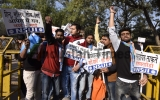 Protest Against A Seminar Of Subramanian Swamy On Ram Temple At Delhi University