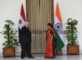 Syrian Deputy Prime Minister Walid Al Moualem Meets With Indian External Affairs Minister Sushma Swaraj