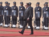 Ceremonial Reception For French President Francois Hollande At Rashtrapati Bhavan