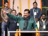 Delhi Chief Minister Arvind Kejriwal Attends State Level Republic Day 2016 At Chhatrasal Stadium